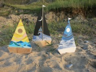 Sail Boats Art by Emily Longhurst