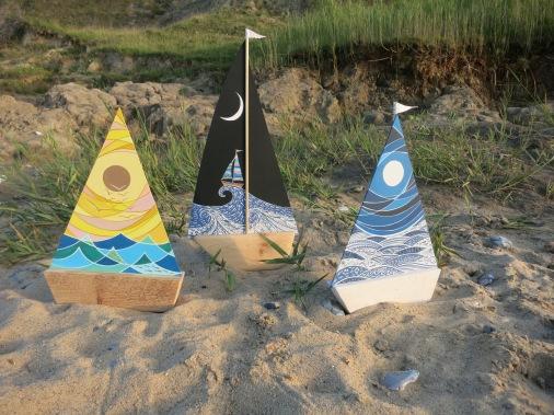 Sail Boats Art by Emily Longhurst